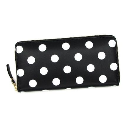 Dots Unisex Leather Long Wallets