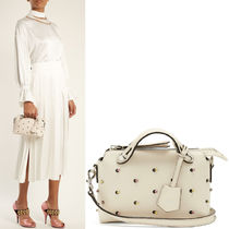 FENDI BY THE WAY By The Way Mini Shoulder Bag With Embellishment / White