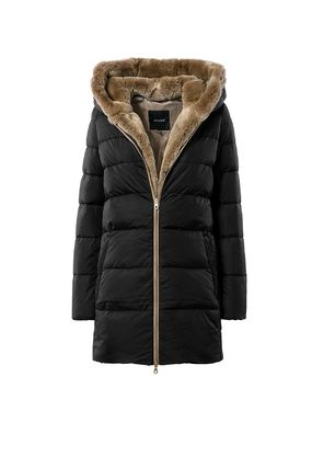 Casual Style Fur Plain Down Jackets