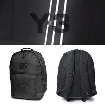Y-3 Unisex Street Style Collaboration A4 Plain Backpacks