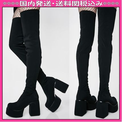Round Toe Casual Style Chunky Heels Over-the-Knee Boots