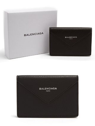 Unisex Street Style Leather Card Holders