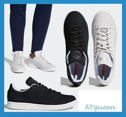 Street Style Collaboration Plain Leather Sneakers
