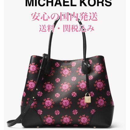 Flower Patterns Star A4 2WAY Office Style Totes