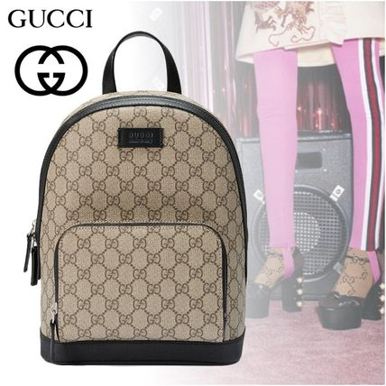 Monoglam Casual Style Cambus Street Style A4 Backpacks