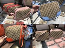 GUCCI Monogram Casual Style Blended Fabrics Bi-color Leather