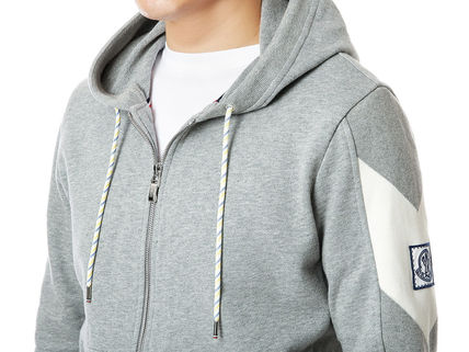 MONCLER Hoodies Street Style Long Sleeves Plain Cotton Logos on the Sleeves 5