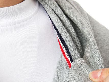 MONCLER Hoodies Street Style Long Sleeves Plain Cotton Logos on the Sleeves 17