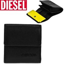 DIESEL Plain Leather Coin Cases