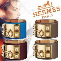 HERMES Collier de Chien Costume Jewelry Leather Elegant Style Bracelets