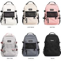 NEIKIDNIS Casual Style Unisex Street Style A4 Plain Backpacks