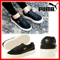 PUMA SUEDE Platform Lace-up Casual Style Suede Street Style