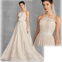 Vera Wang Plain Long Wedding Dresses