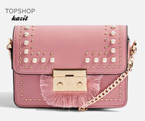 TOPSHOP Casual Style Faux Fur Studded Shoulder Bags