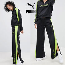 PUMA Casual Style Nylon Street Style Long Bottoms