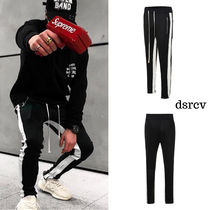 dsrcv Stripes Sweat Street Style Plain Joggers & Sweatpants