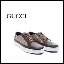 GUCCI Round Toe Casual Style Street Style Plain Low-Top Sneakers