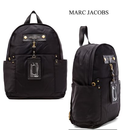Casual Style Nylon A4 2WAY Plain Backpacks