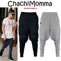 Chachi Momma Unisex Street Style Plain Cotton Sarouel Pants
