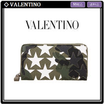 VALENTINO Camouflage Leather Long Wallets