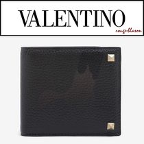 VALENTINO Camouflage Leather Folding Wallets