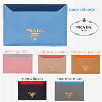 PRADA Calfskin Bi-color Card Holders