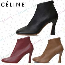 CELINE Leather Ankle & Booties Boots