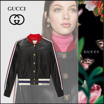 GUCCI Casual Style Leather Biker Jackets