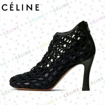 CELINE Blended Fabrics Leather Ankle & Booties Boots