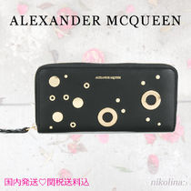 alexander mcqueen Studded Leather Long Wallets