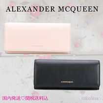 alexander mcqueen Calfskin Plain Long Wallets