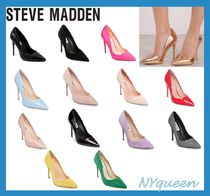 Steve Madden Suede Plain Pin Heels Elegant Style Stiletto Pumps & Mules
