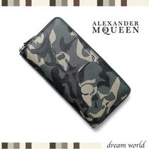 alexander mcqueen Camouflage Leather Long Wallets