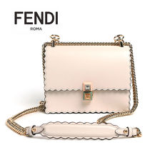 FENDI KAN I Leather Shoulder Bags