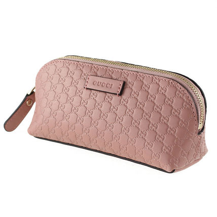 Gucci Pouches Cosmetic Bags Monoglam Leather