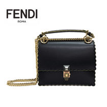 FENDI KAN I 2WAY Leather Shoulder Bags