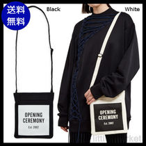 OPENING CEREMONY Casual Style Cambus Plain Shoulder Bags