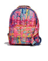 CHANEL Paint Splatter Printed Fabric Foulard Backpack