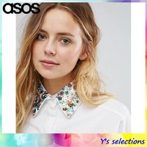 ASOS Flower Patterns Casual Style Cotton Detachable Collars