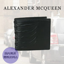 alexander mcqueen Skull Leather Folding Wallets