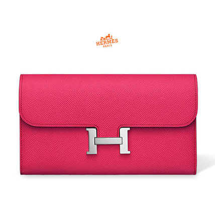 18SS Constance Long Rose Extreme veau Epsom Long Wallet