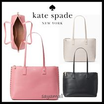 kate spade new york Studded A4 Plain Leather Totes