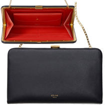 CELINE Calfskin 2WAY Chain Plain Party Style Clutches
