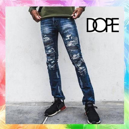 Tapered Pants Street Style Cotton Jeans & Denim