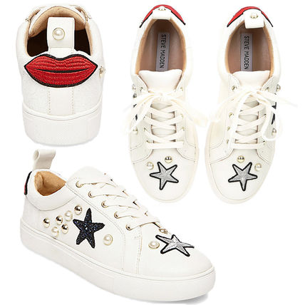 Star Casual Style Plain Leather Low-Top Sneakers