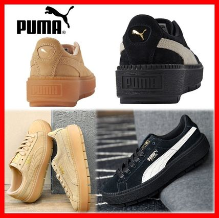 Platform Casual Style Suede Street Style
