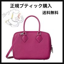 HERMES Plume Rose/SHW Leather II Mini Bag