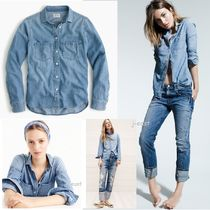 J Crew Plain Cotton Shirts & Blouses