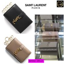 Saint Laurent Unisex Calfskin Plain Keychains & Bag Charms