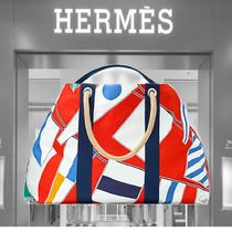 HERMES Casual Style Cambus Totes